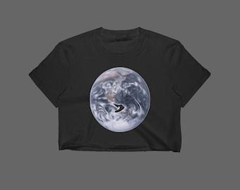 Earth Crop Top // Earthy Crop Top // Space Crop Top // Planet Crop Top