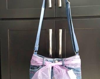 Blue Jean Skirt Purse. (Stock #142)
