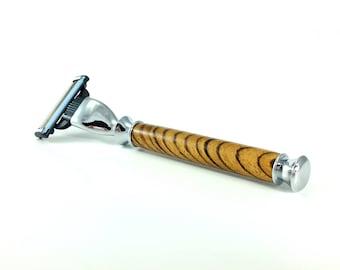 Mach 3  Razor, Wooden Custom Razor, Wood Anniversary, Men's Wood Gift, 5th Anniversary for Men