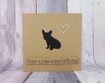 Handmade French Bulldog birthday card, French Bulldog anniversary card, Frenchie Valentine's Day card, French Bulldog Pun card