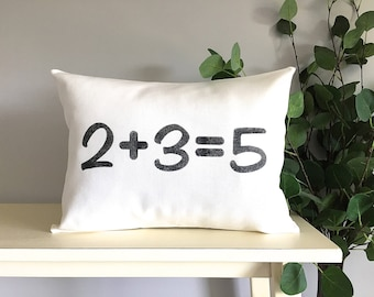 Family Number Pillow, Decorative Pillow, Rustic Home Decor, Accent Pillow, Personalized Pillow, Housewarming Gift, Farmhouse Decor