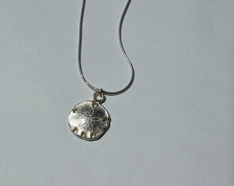 """18"""" Handcrafted in USA Sterling Silver Sand Dollar Necklace, Sterling Silver, Birthday Gift, Bridesmaid Gift, Bridal Shower, Anniversary"""