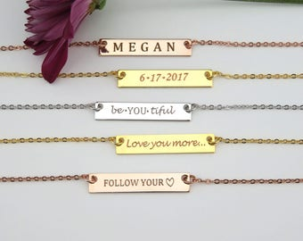 Bridesmaid gift, Bridesmaid jewelry, Personalized Necklace Maid of honor gift Anniversary necklace Birthday Gift Name Necklace, Gift for her
