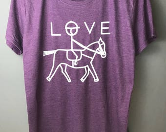 Equestrian t-shirt. Horse riding shirt. Love horses. Riding top. Horse t-shirt. Horse shirt. Horseback riding. Horse gift. Horse lover.