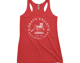 Death Valley National Park Adventure Next Level Ladies Tri-Blend Tank