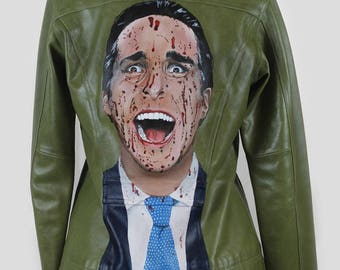 Patrick Bateman on Green Leather
