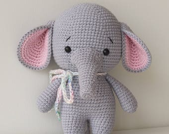 ALFREDO the Elephant Toy - Crochet Elephant - Stuffed Elephant - Soft Elephant Toy - Plush Elephant - Baby Toy - Baby Soft Toys