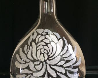 Hand Painted Glass Bottles