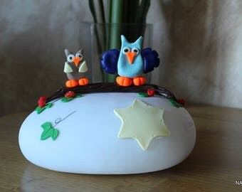 night light LED with two owls
