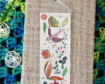 Original watercolor painting bookmarks