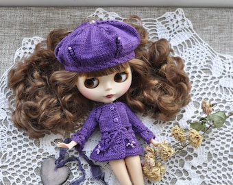 Clothing for Blythe, dress doll blythe, knitwear blythe, collection doll, vintage dress, blythe clothes