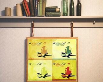 Lavish Olive Green Kitchen Art Mediterranean Decor Oil Poster Pop Printable Dining Room Prints
