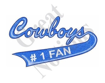 Cowboys Number One Fan - Machine Embroidery Design