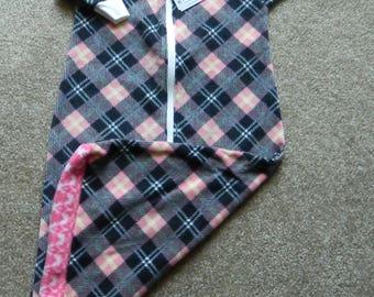 Pink Plaid Sleep Sack / Bunting Bag / Sleeping Bag