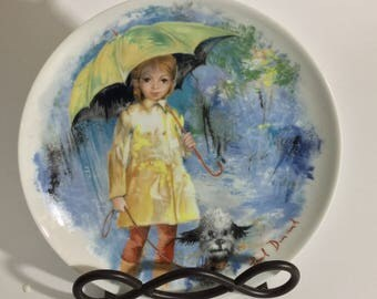 """Paul Durand's """"Christiane et Fifi"""" Collector's Plate"""