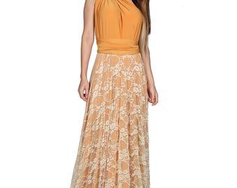 Mustard Infinity dress