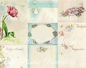 Vintage Baby Buch Collage Blech, druckbare, digitale, sofortigen download
