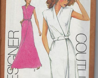 Vintage  Simplicity Sewing Pattern 9518 Cathy Hardwick Wrap Skirt Dress  Size 10   Uncut 1970s
