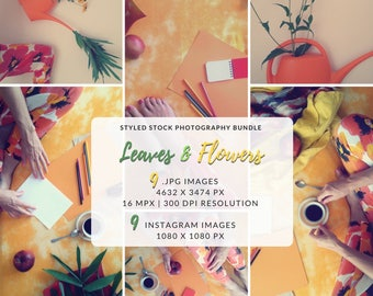 Lifestyle Photos Bundle, Entrepreneur, Office Stock Photos, Floral Bundle, Styled Social Media, Instagram and Pinterest, Branding Photos