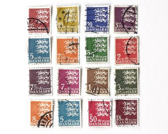 20pc Vintage Danmark Postage Stamps A