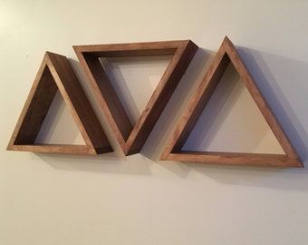 SET OF 3 - Floating Triangle Shelf, Floating Triangle Shelves, Geometric Shelf, Geometric Shelves, Floating Shelf, Floating Shelves
