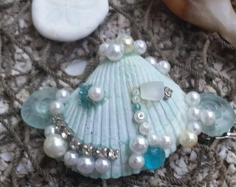 seafoam blue mermaid barrette