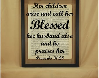 Proverbs, Proverbs 31, Proverbs 31 Woman, Proverbs 31 28, Christian Gifts for Women, Religious Gifts for Women, Her Children Rise Up