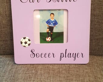OUR  LITTLE SOCCER Player. son, boy. picture frame ,gift
