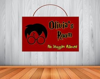 Personalized Harry Potter Sign, Harry Potter Personalized Wooden Name Sign, Harry Potter Room Decor,  Harry Potter Birthday