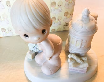 Vintage Precious Moments May Your Christmas Be Warm Figurine  E-2348