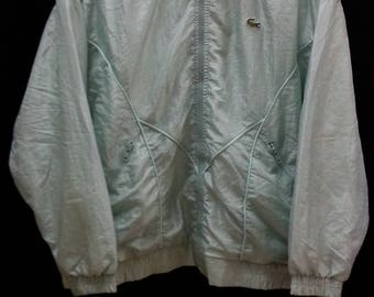 "Vintage LACOSTE Chemise//Windbreaker Zip//Size 40- M""//Made In France"