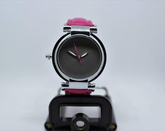 Custom left handed watch, gray dial