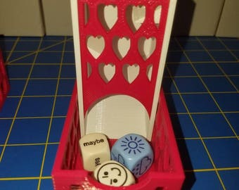 New Version - Hearts Faceplate - Fits Our Dice Towers - 3D Printed