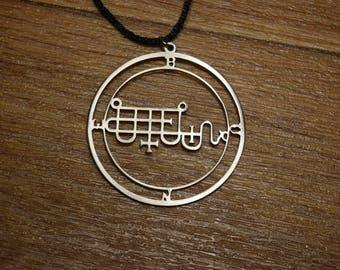 Sceal Sigil of Bune Necklace Satan Necklace Lesser Key demon seal pendant  Goetia necklace Lemegeton jewelry Seal Lucifer sigil of demons