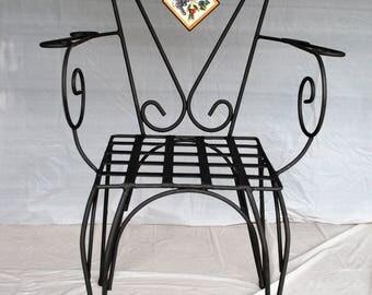 "Sicilian Wrought Iron Chair ""Siracusa"""