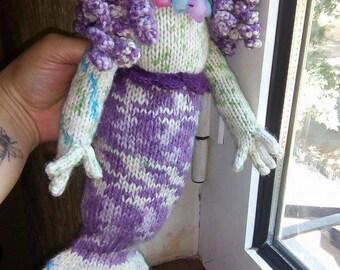Knitted Mermaid Doll/ Teddy Bear Toy