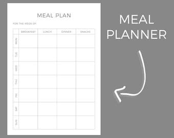 Meal Plan Planner Printable