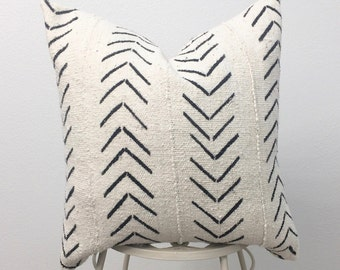 African Mud Cloth Pillow Cover, Arrow