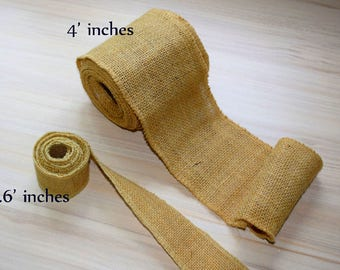 Burlap Ribbon by Yard, Wired Burlap Trim , rustic ribbon, Wedding ribbon Jute ribbon, Hessian, cottage chic, Vintage, gift wrap