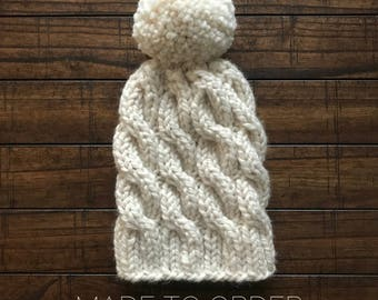 Cable Beanie MADE TO ORDER