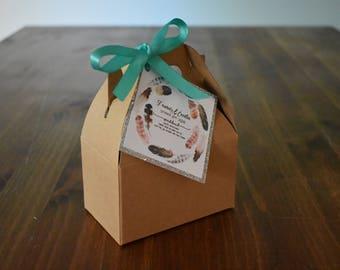 Custom Wedding or Party Favor Seed Bomb Gable Box