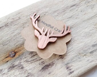 Deer brooch stag brooch  stag brooch deer badge stag tie pin Christmas jewellery reindeer Deer jewelry stag jewellery winter brown deer