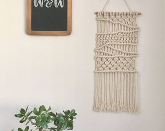 Macrame Wall hanging | Lena | Modern, minimalistic, off-white, medium