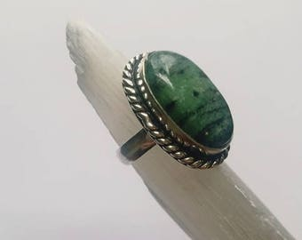 Zoisite Ring Zoisite Crystal Ring Zoisite Crystal Statement Ring Raw Zoisite size 7