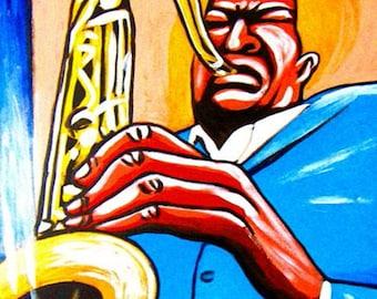 John Coltrane Jazz Saxophone Print Poster