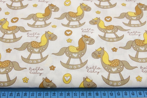 Rocking horse fabric horse fabric animal fabric children for Horse fabric for kids