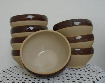 Bowls kitchen stoneware - set of 2 - made in France - DIGOIN - pottery stoneware