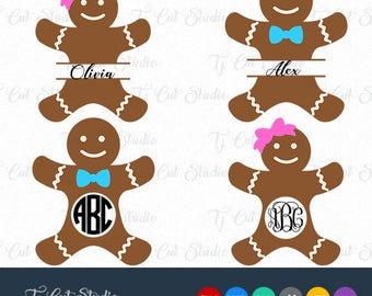Gingerbread svg, gingerbread man svg, gingerbread svg mongorgam, Svg Files for Silhouette Cameo or Cricut Commercial & Personal Use
