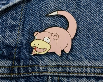Slowpoke Meme Wooden Brooch by WoodBrooch
