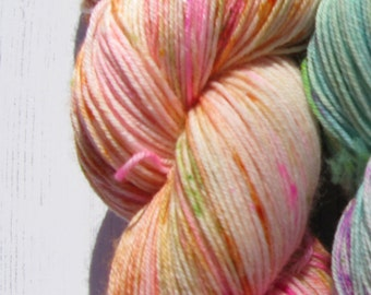 """4 Ply """"Giverny""""hand dyed sock yarn inspired by Monet."""